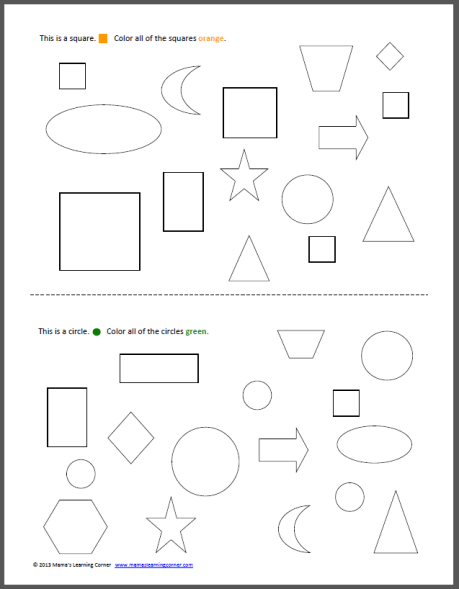 Shapes Coloring Pages Inside Book