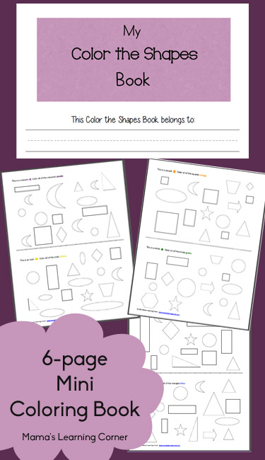 Free Printable: My Color the Shapes Coloring Book