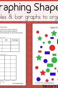 Shapes: Use a Table & Bar Graph to Organize Data