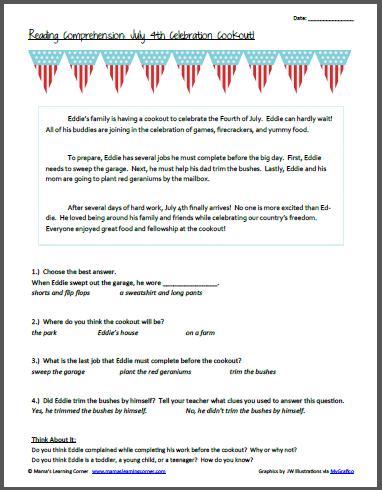 Patriotic and 4th of July Worksheets and Printables - Mamas ...