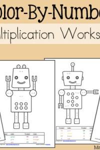 Multiplication Color By Number Worksheets