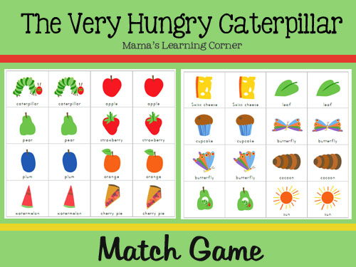 The Very Hungry Caterpillar Match Game