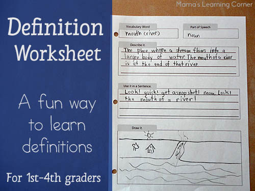 photo relating to Printable Definitions identified as A Entertaining Direction in the direction of Create Definitions for 1st-4th Graders w/ a