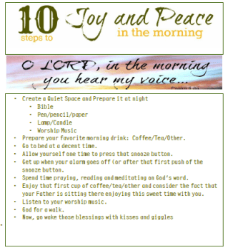 10 Steps to Joy and Peace in the Morning (w/ a free printable)