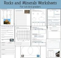 Rocks and Minerals Worksheets - Mamas Learning Corner