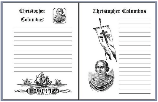 Christopher Columbus Notebooking Pages