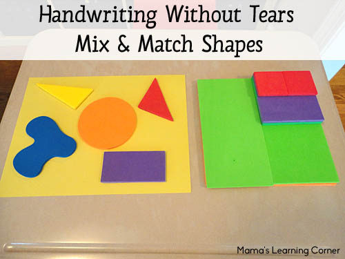 Handwriting Without Tears Mix and Match Foam Shapes