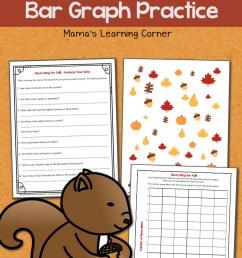 Fall Bar Graph Worksheets - Mamas Learning Corner [ 1500 x 1000 Pixel ]