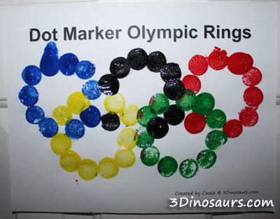 Dot Marker Olympic Rings from 3Dinosaurs
