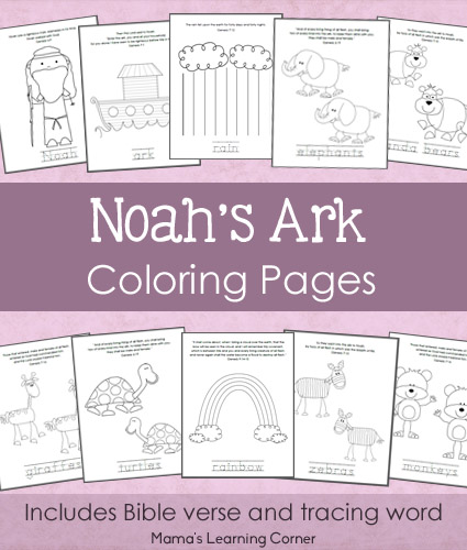 Noah's Ark Coloring Pages - 11-page free printable download