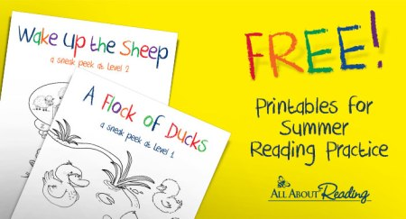 Free Printables for Summer Reading Practice