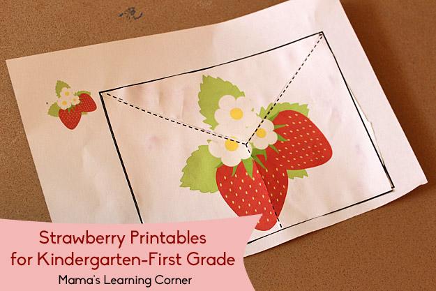 Free Strawberry Scissor Skills Practice Worksheets