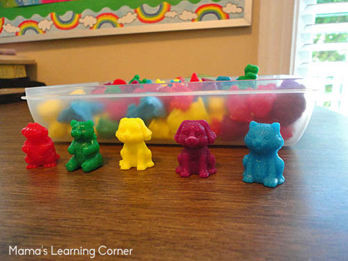 Using Animal Counters for Preschool