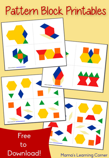 picture about Printable Pattern Block called No cost Practice Block Printables - Mamas Understanding Corner