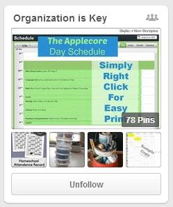 Organization is Key Pinterest Board