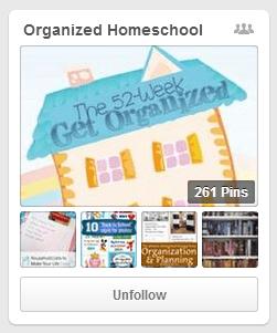 Organized Homeschool Pinterest Board