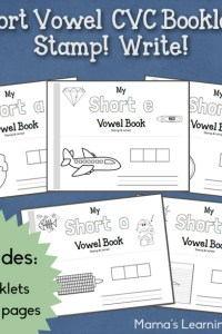 Short Vowel CVC Booklets – Stamp and Write