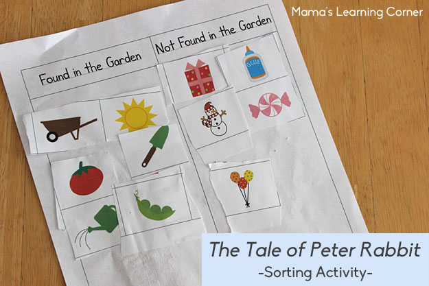 The Tale of Peter Rabbit Sorting Activity