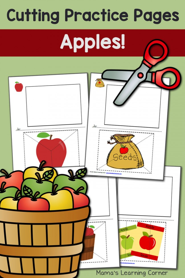 Apple Cutting Practice Pages