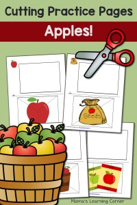 Cutting Practice Worksheets: Apples!