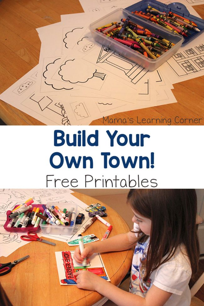 Build Your Own Town Free Printables