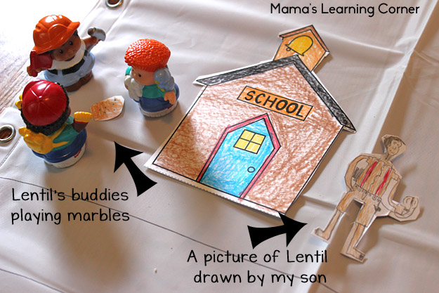 Build Your Own Town - a great activity to go along with the book Lentil