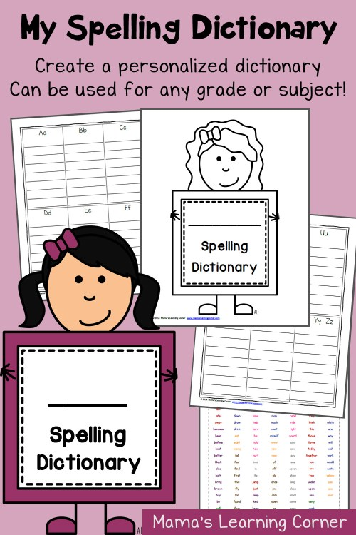 small resolution of My Spelling Dictionary - Customize for any grade or subject! - Mamas  Learning Corner