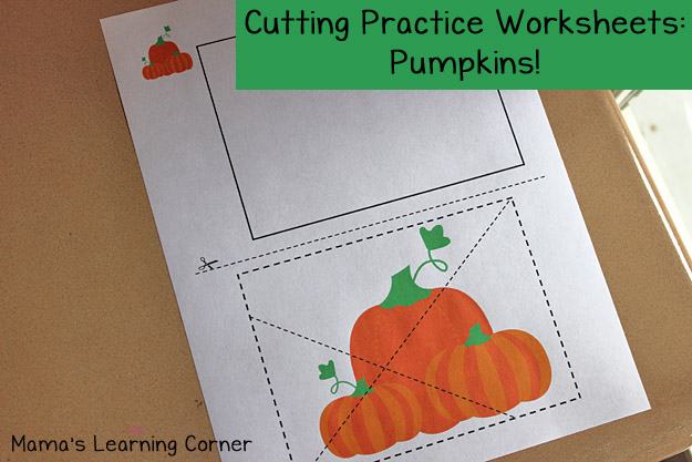 Free Pumpkin Cutting Practice Printables