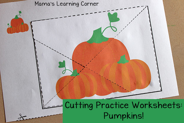 Free Pumpkin Cutting Practice Worksheets
