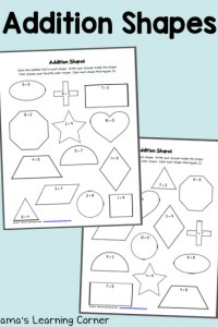 Addition Shapes: Free Worksheets