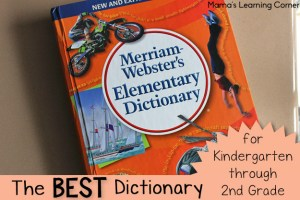 Best Dictionary for Kindergarten through 2nd Grade