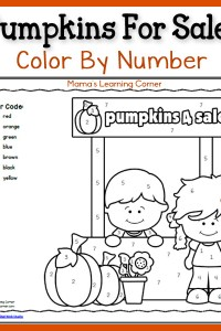 Color By Number: Pumpkins!