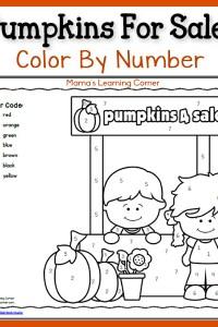 Color By Number: Pumpkins!