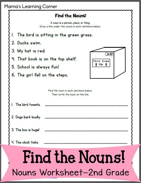 Current image in printable noun worksheets