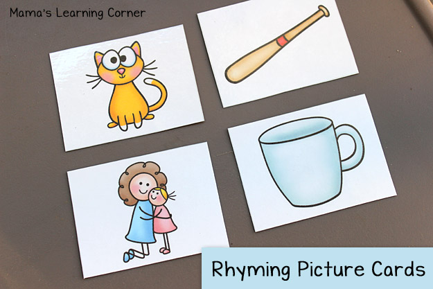 Free Rhyming Picture Cards