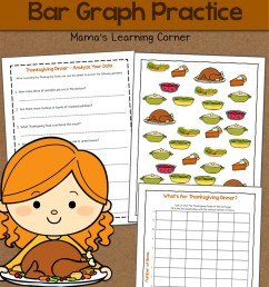 Bar Graph Worksheet: Thanksgiving! - Mamas Learning Corner [ 1500 x 1000 Pixel ]