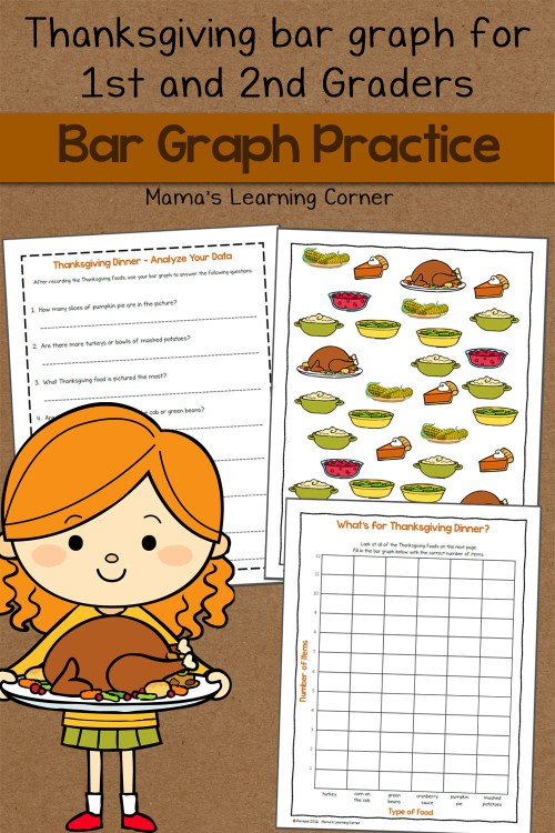 small resolution of Bar Graph Worksheet: Thanksgiving! - Mamas Learning Corner