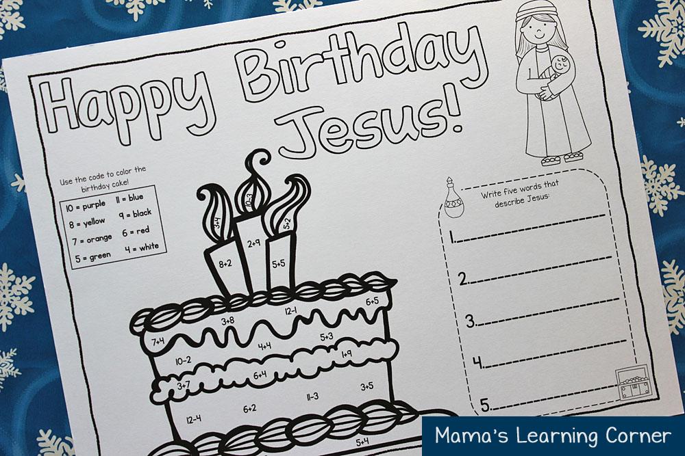 Happy Birthday Jesus Placemat