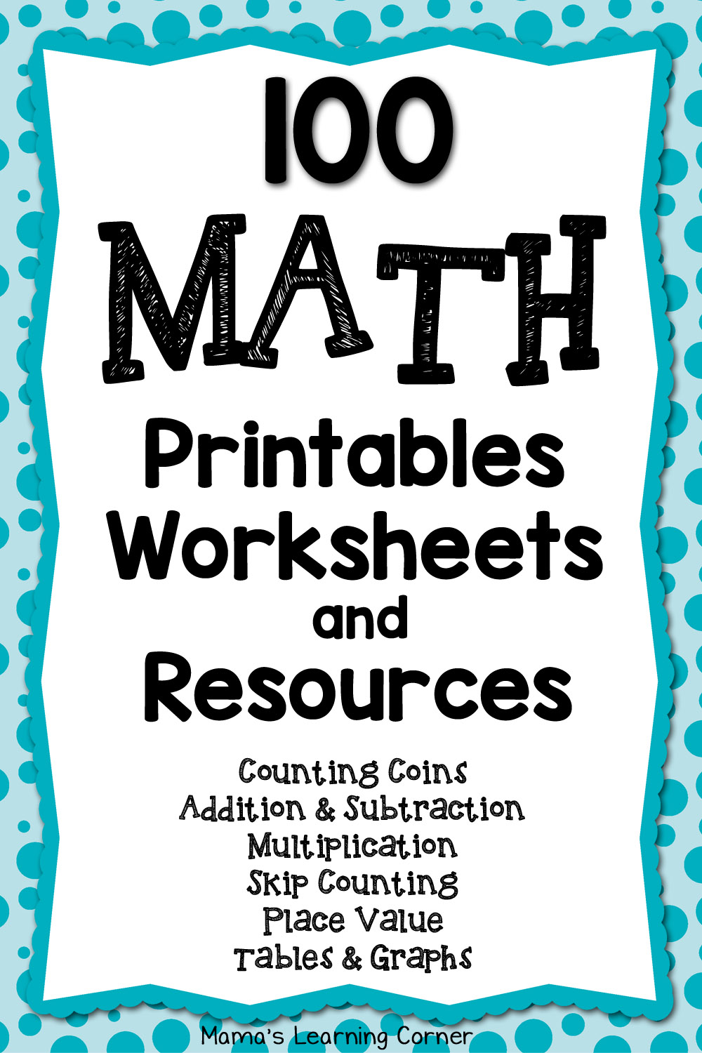 Math Worksheets, Printables, and Resources - over 100 links!