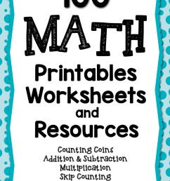 100 Math Printables and Resources - Mamas Learning Corner [ 1500 x 1000 Pixel ]