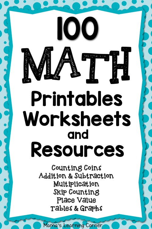 small resolution of 100 Math Printables and Resources - Mamas Learning Corner
