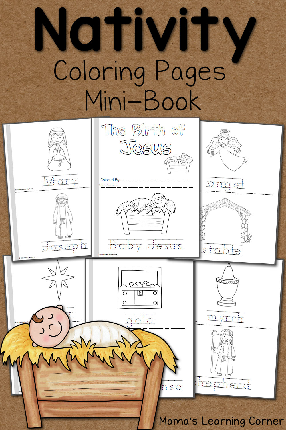 Nativity Coloring Pages - Mamas Learning Corner