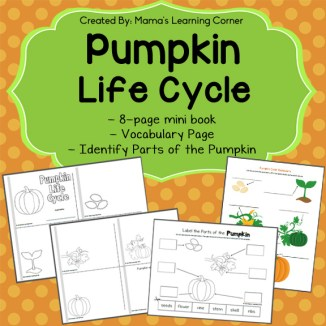 Pumpkin Life Cycle Printable Packet