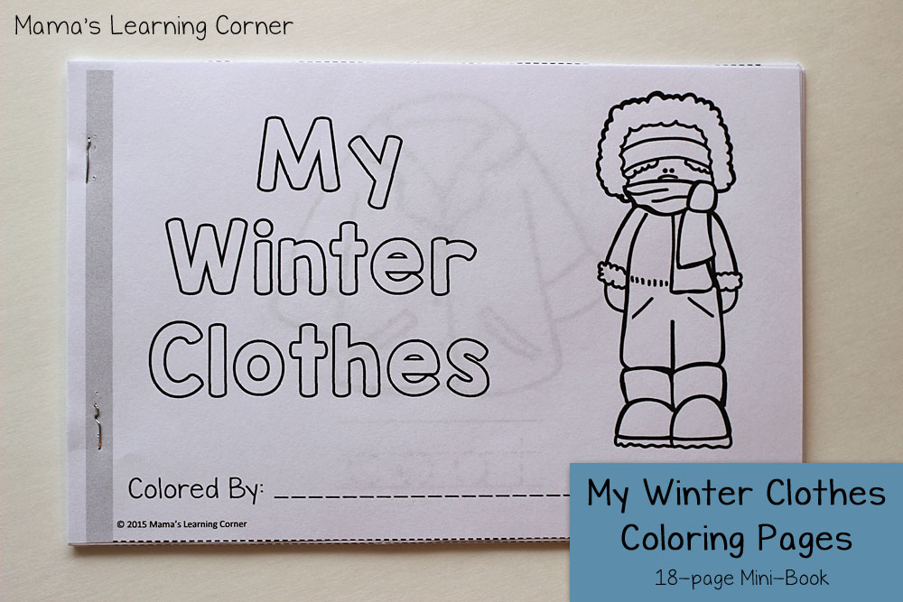 Winter Coloring Pages Mamas Learning Corner