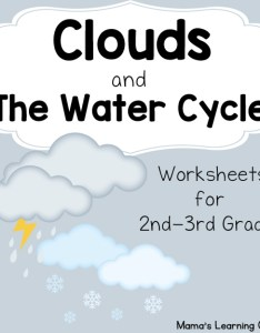 Clouds and the water cycle worksheets also mamas learning corner rh mamaslearningcorner