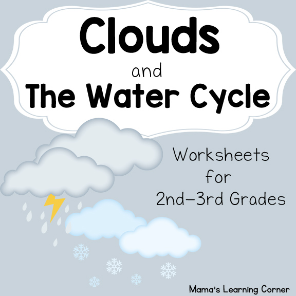 water cycle diagram blank weg brake motor wiring clouds and the worksheets - mamas learning corner