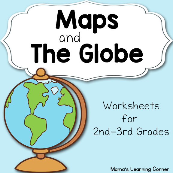 maps and the globe worksheets  map and globe venn diagram #14