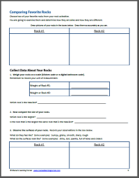 Rocks and Minerals Unit Study Resource Packet - Mamas ...