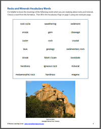 All Worksheets  Rocks And Minerals Worksheets - Printable ...