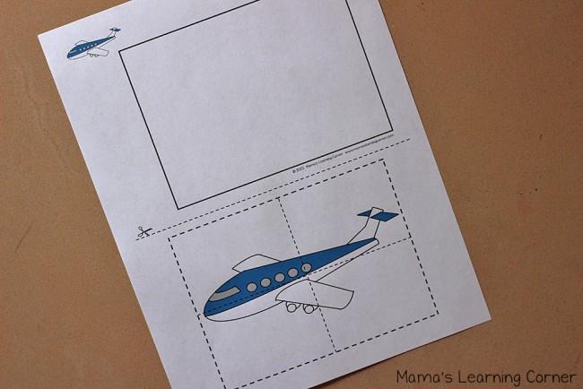 Transportation Scissor Skills Packet